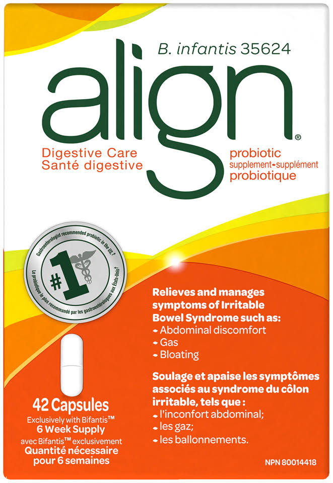 Align Digestive Care Probiotic Supplement Capsules 42 Ct Box
