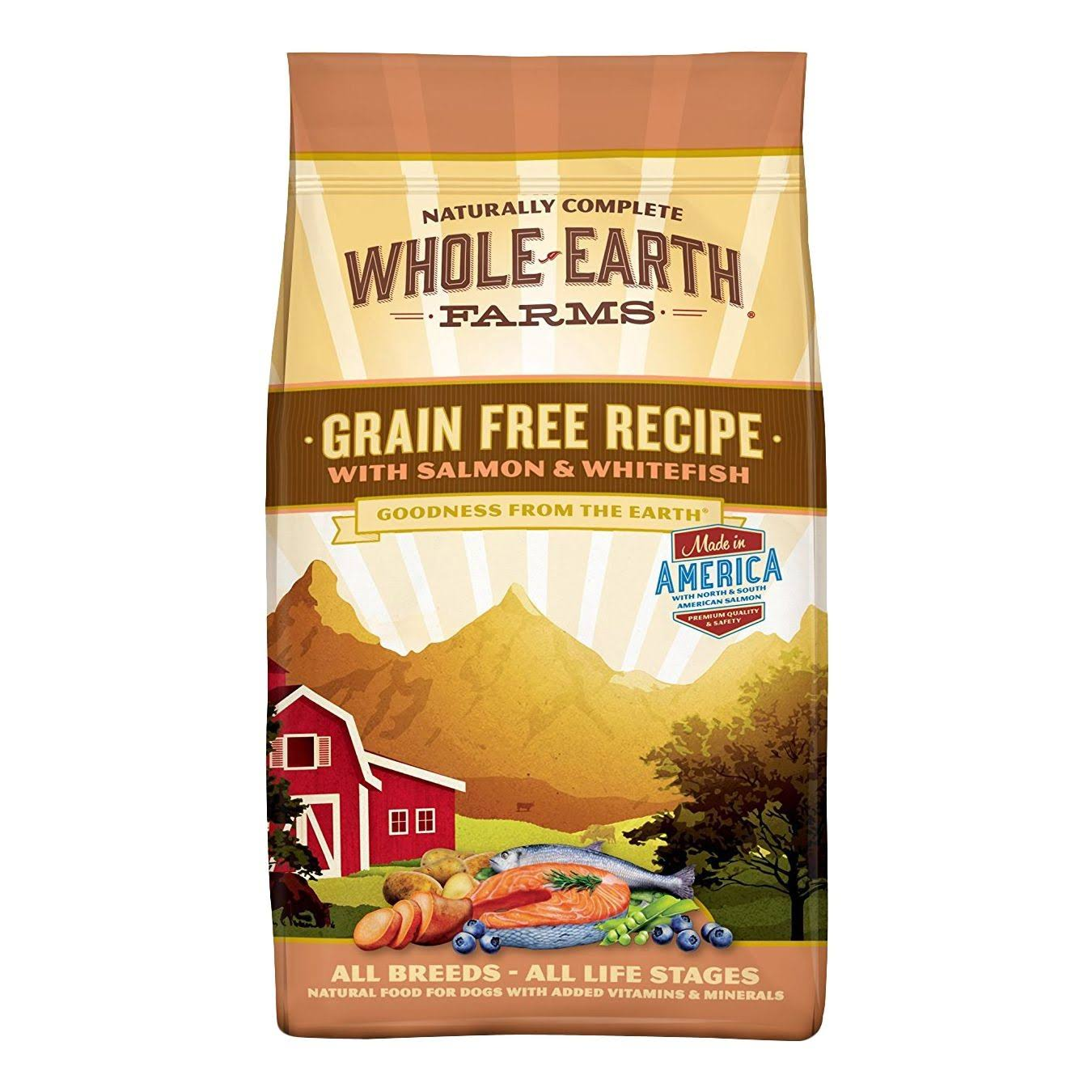 Merrick Whole Earth Farms Dog Food - Salmon and Whitefish, Dry, 12lbs
