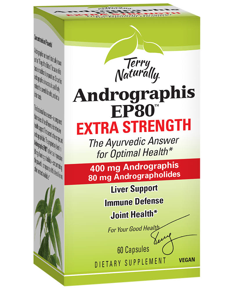 Terry Naturally Andrographis EP80 Extra Strength - 60 Capsules