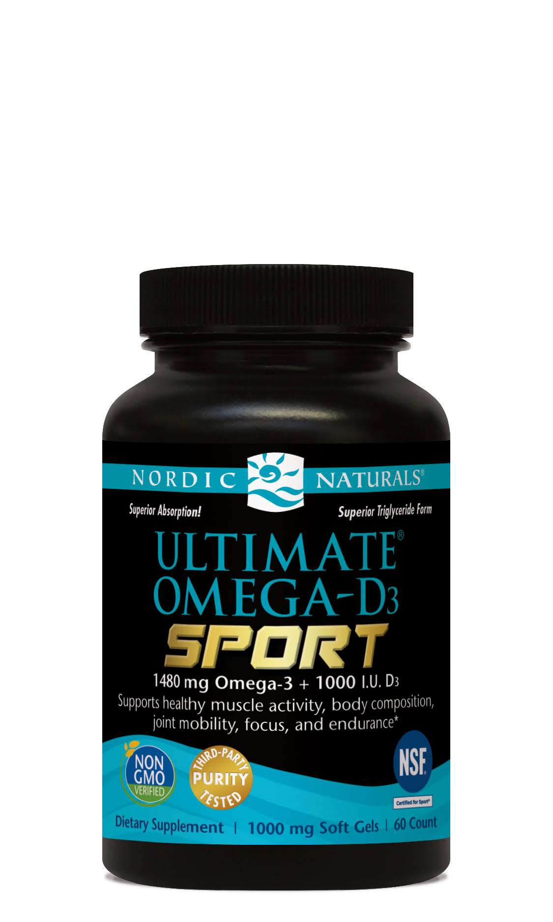 Nordic Naturals Ultimate Omega D3 Sport Dietary Supplement - 60ct