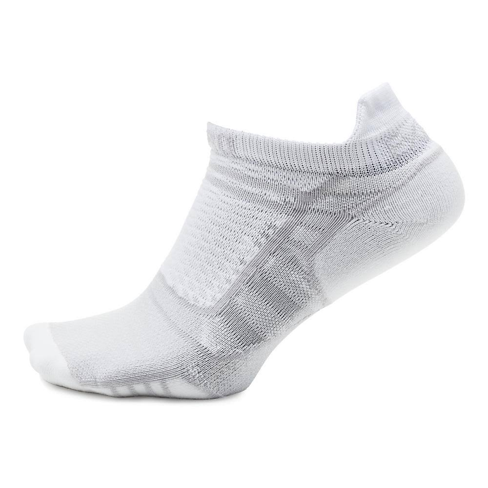 Thorlo Experia ProLite Ultra Light Running No Show Tab Top Running Socks - White