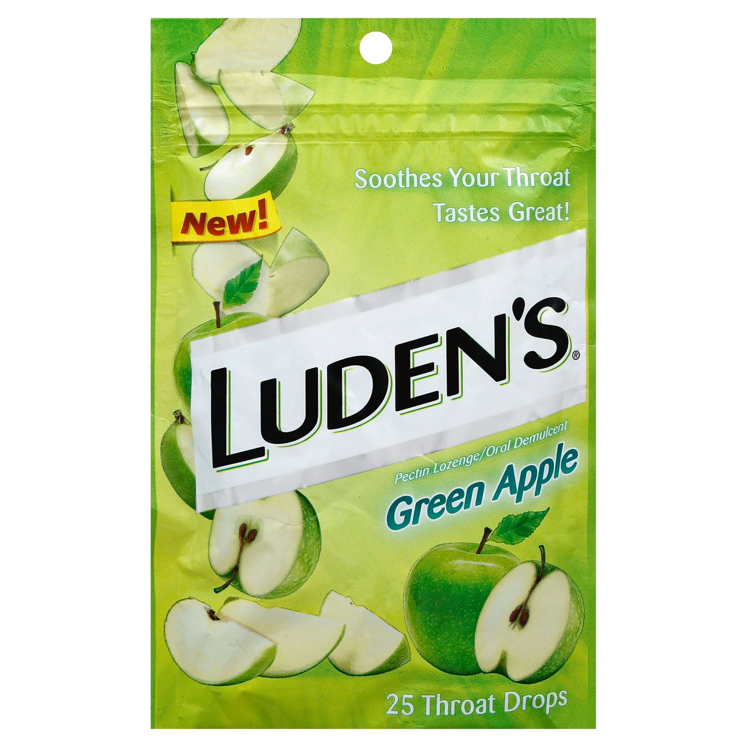 Luden's Green Apple Throat Drops - 25ct