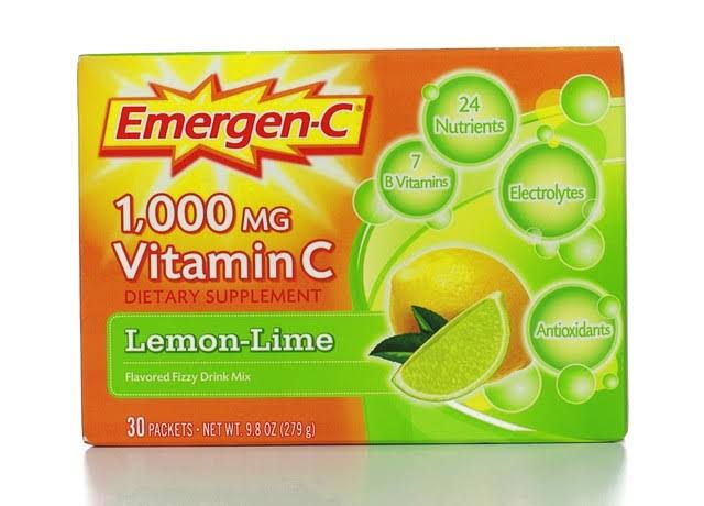 Emergen C Lemon-Lime Vitamin C Drink Mix, 0.33 oz