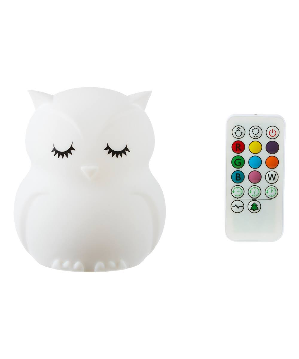 Ganz LumiPets - Owl Silicone Night LED Light Lamp with Remote