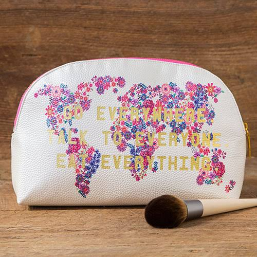 Natural Life Go Everywhere Cosmetic Bag Multi, Pink, White One Size