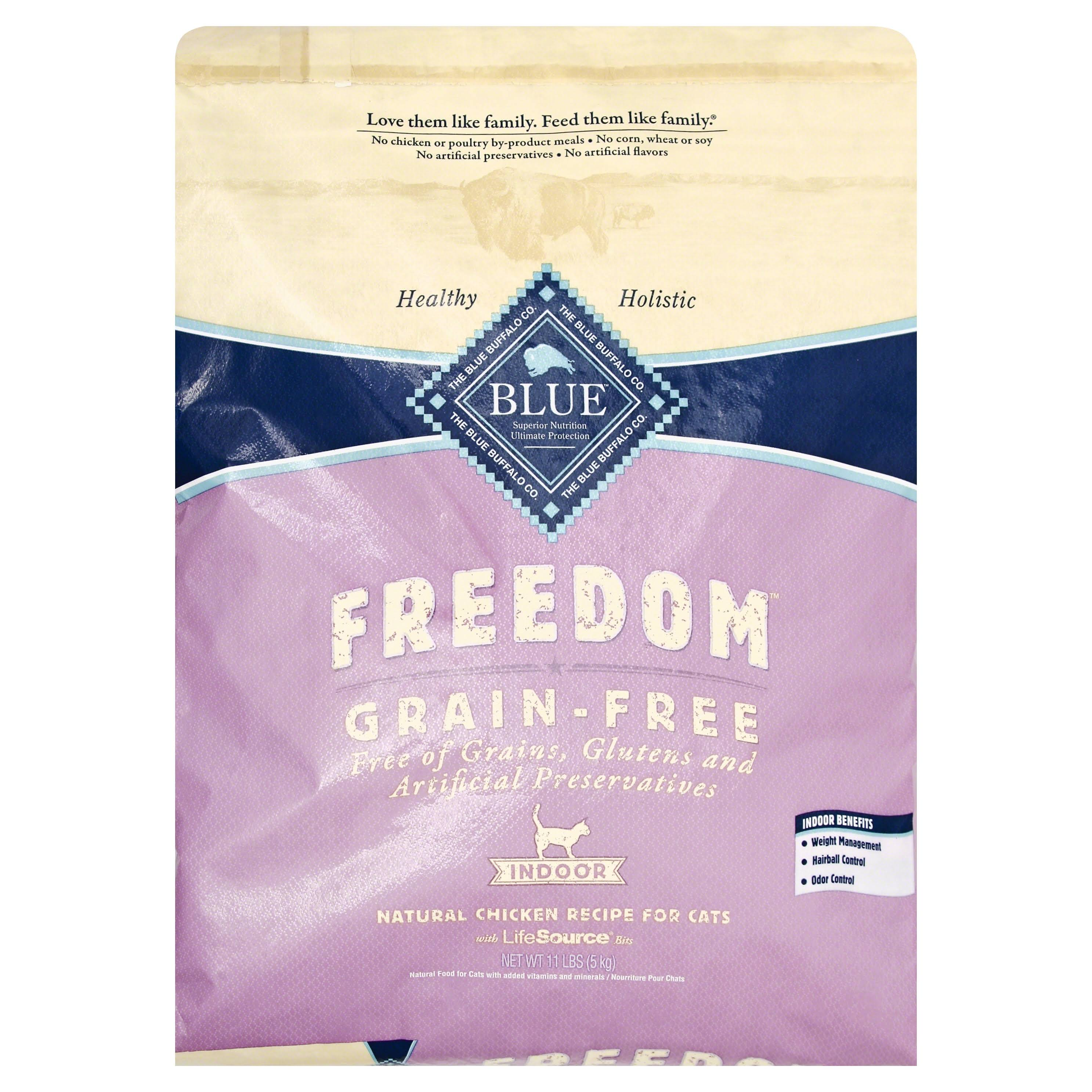 Blue Buffalo Freedom Adult Indoor Cat Dry Food - Chicken, 11lb