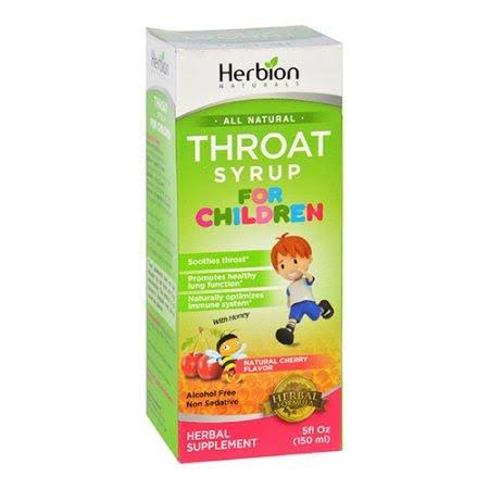 Herbion Naturals Children's Throat Syrup - Cherry, 50ml