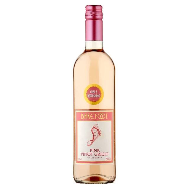 Barefoot Pink Pinot Grigio Rose Wine 75cl