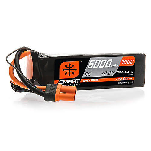 Spektrum Smart LiPo Battery - 5000mAh, 6S, 22.2V, 100C