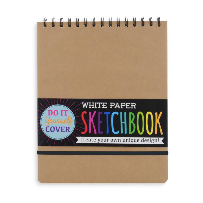 Do It Yourself Cover White Paper Sketchbook