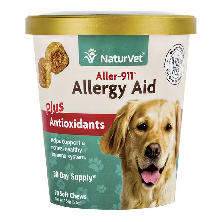 NaturVet Aller-911 Skin & Coat Allergy Aid, 90 Soft Chews
