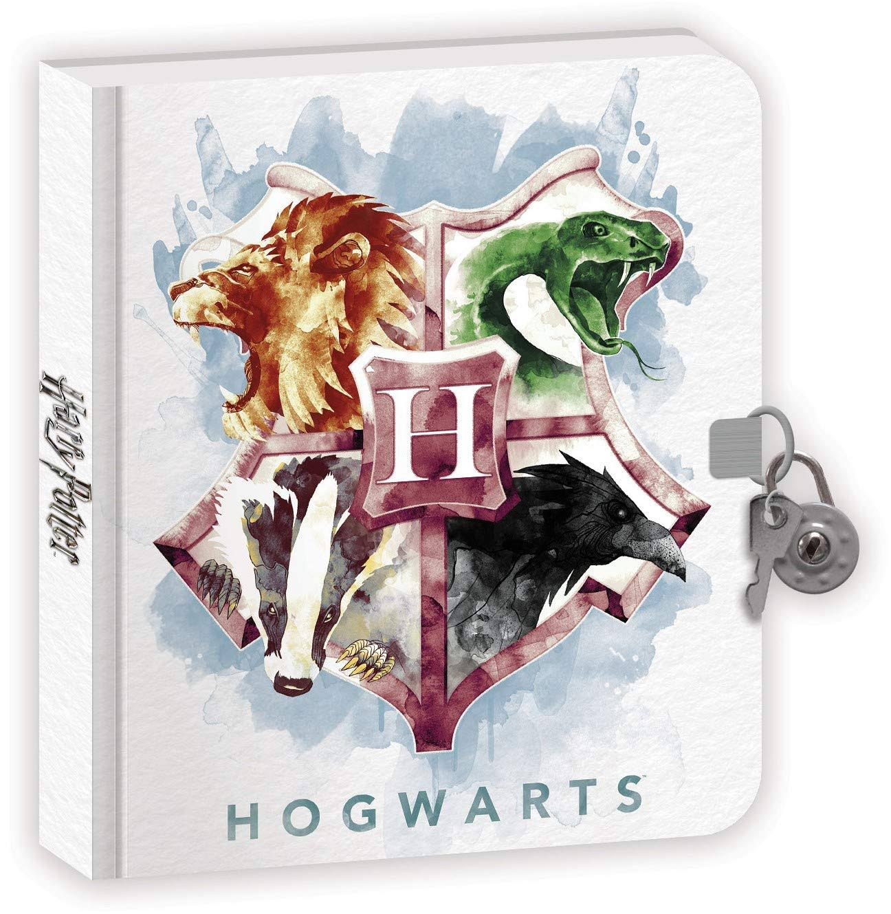 Paper House PHDRY001 Harry Potter Watercolor Crest Diary