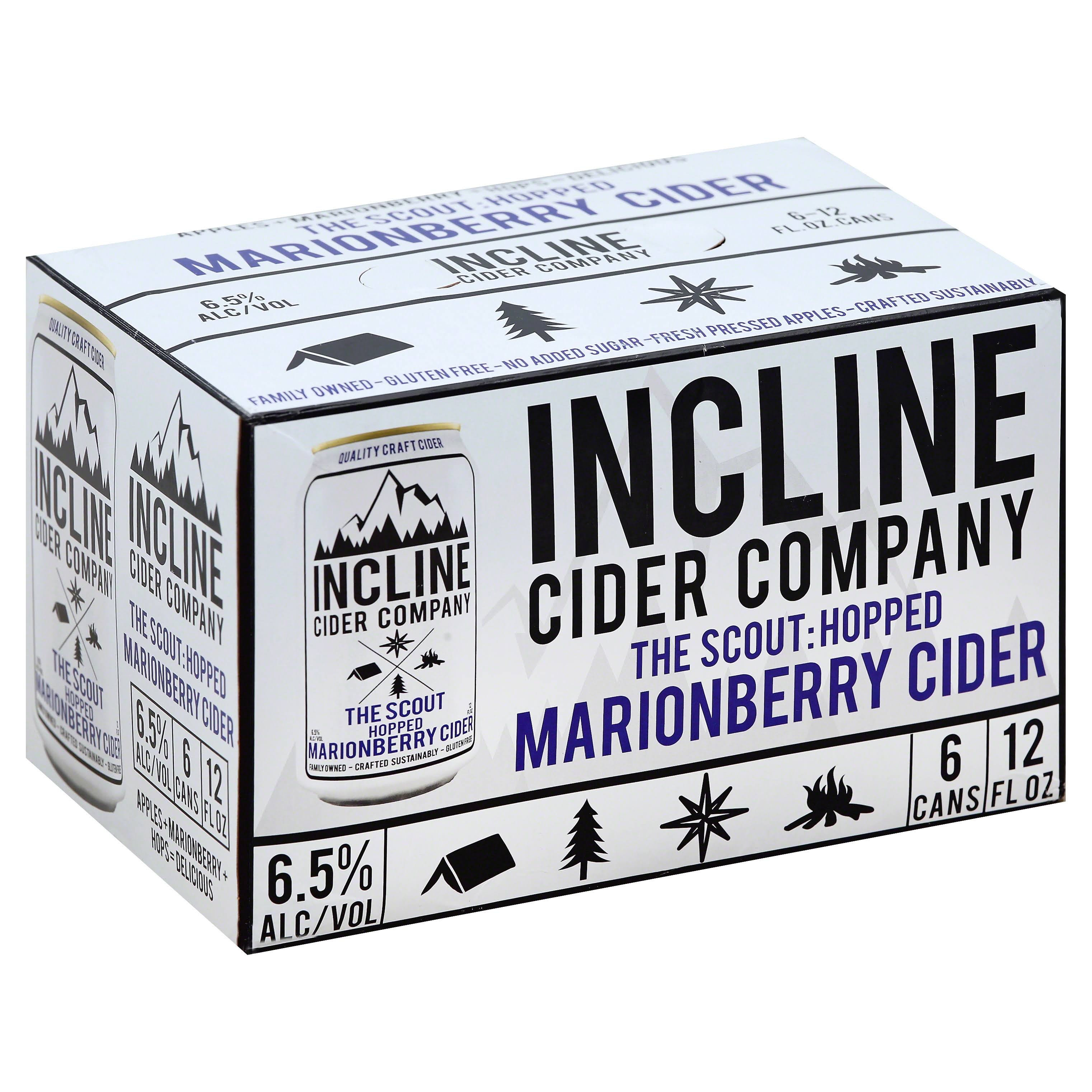 Incline Cider Cider, The Scout, Hopped Marionberry - 6 pack, 12 fl oz cans