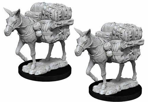 Wizkids Deep Cuts Unpainted Miniatures - Pack Mule