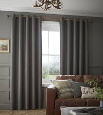 Ebay Curtains 108 Drop brushed heritage plain curtains fully lined ring top eyelet