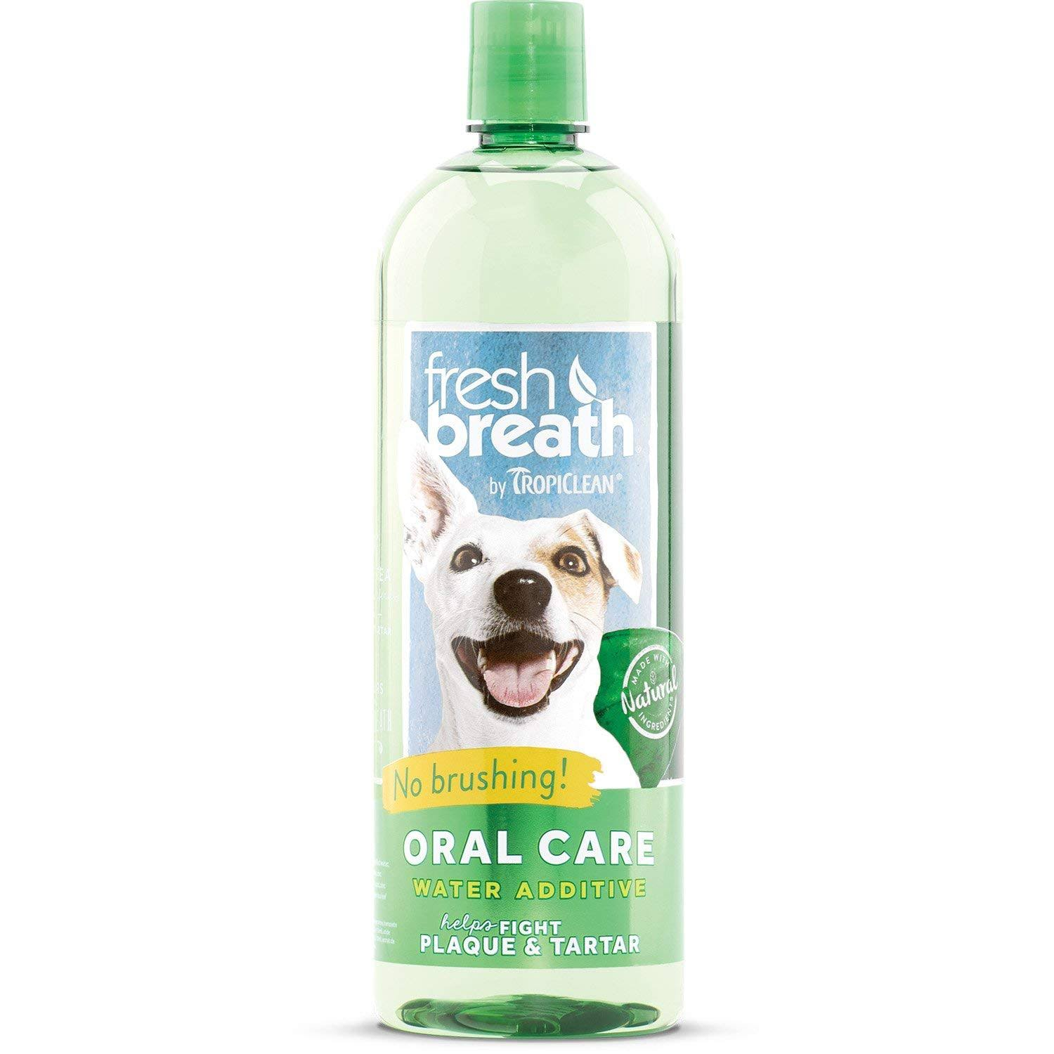 Tropiclean Fresh Breath Plaque Remover Pet Water Additive - 33.8oz