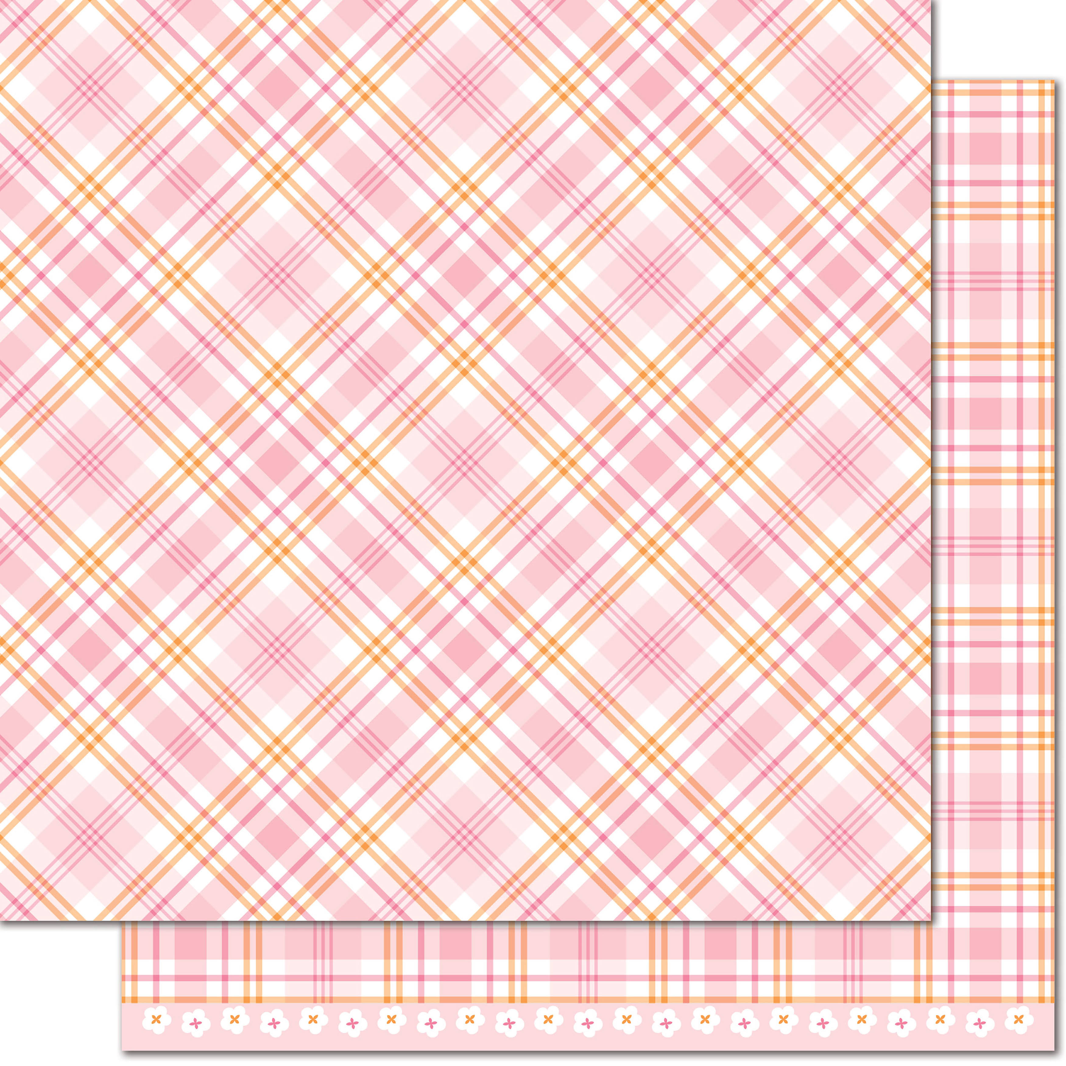 Lawn Fawn Perfectly Plaid Dahlia Paper