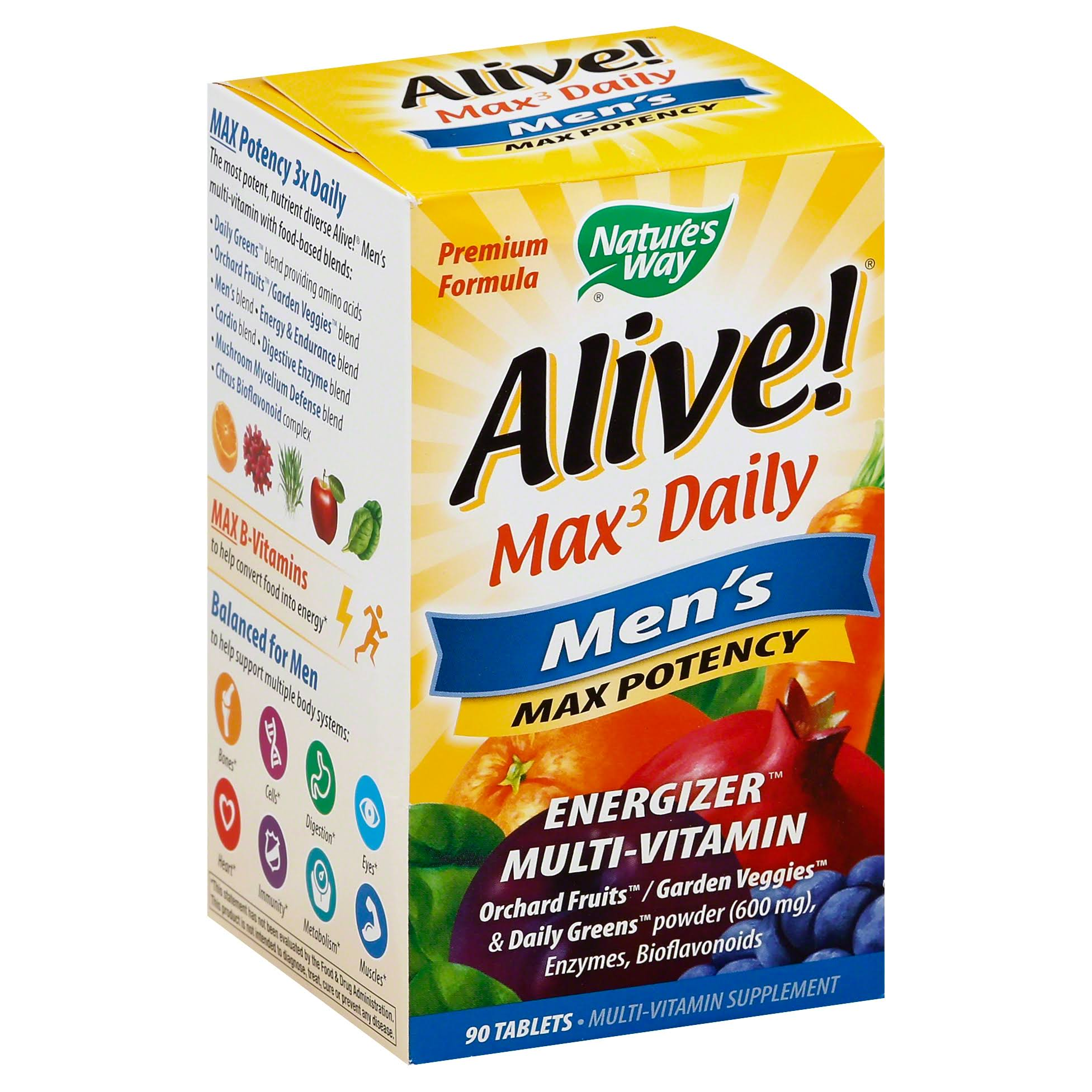 Nature's Way Alive Max3 Daily Men's Max Potency Supplement - 90ct