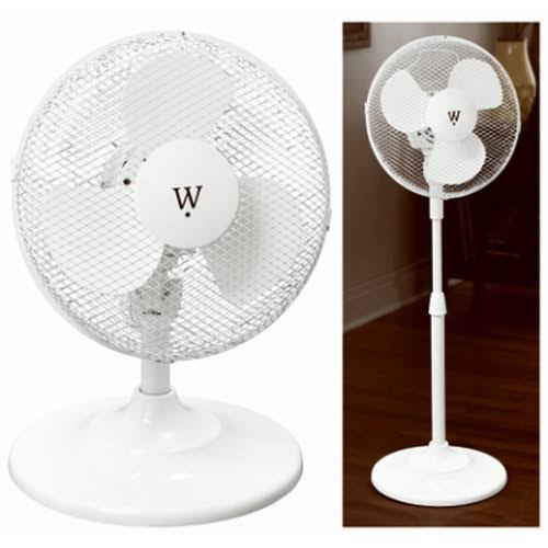 Midea FS30-15M Stand and Table Fan - White, 3 Speed, 12""