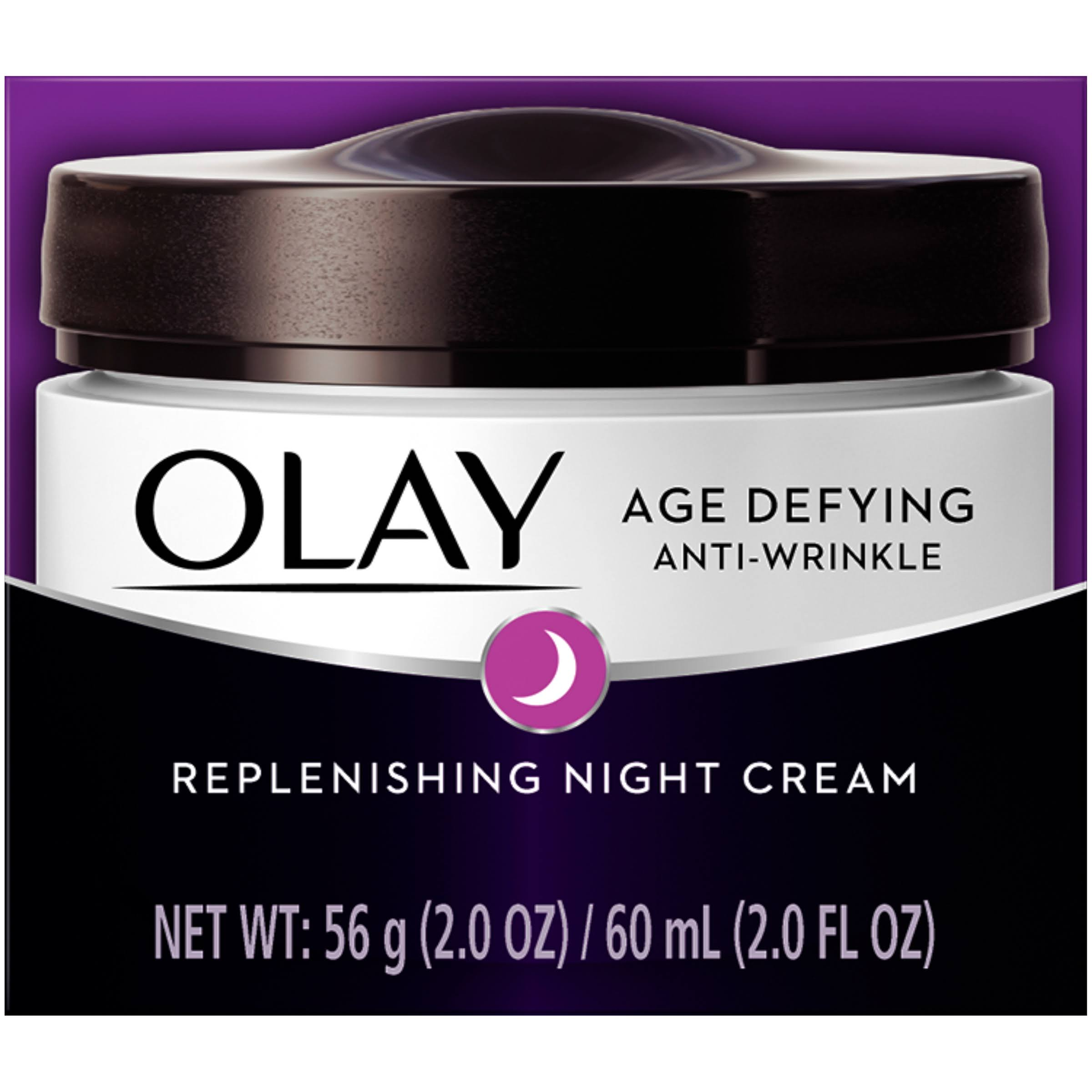 Olay Age Defying Anti Wrinkle Night Cream Oil Free - 2 Oz, 2 Pack