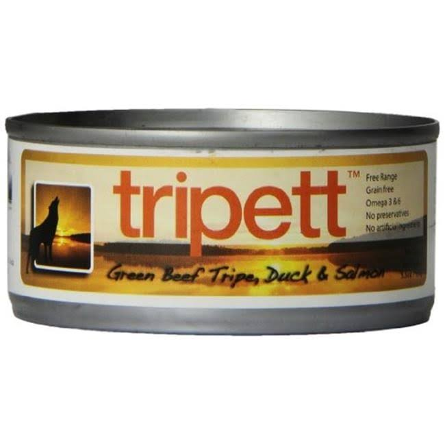 Petkind Pet Products Tripett Canned Dog Food - Beef Tripe, Duck and Salmon, 5.5oz