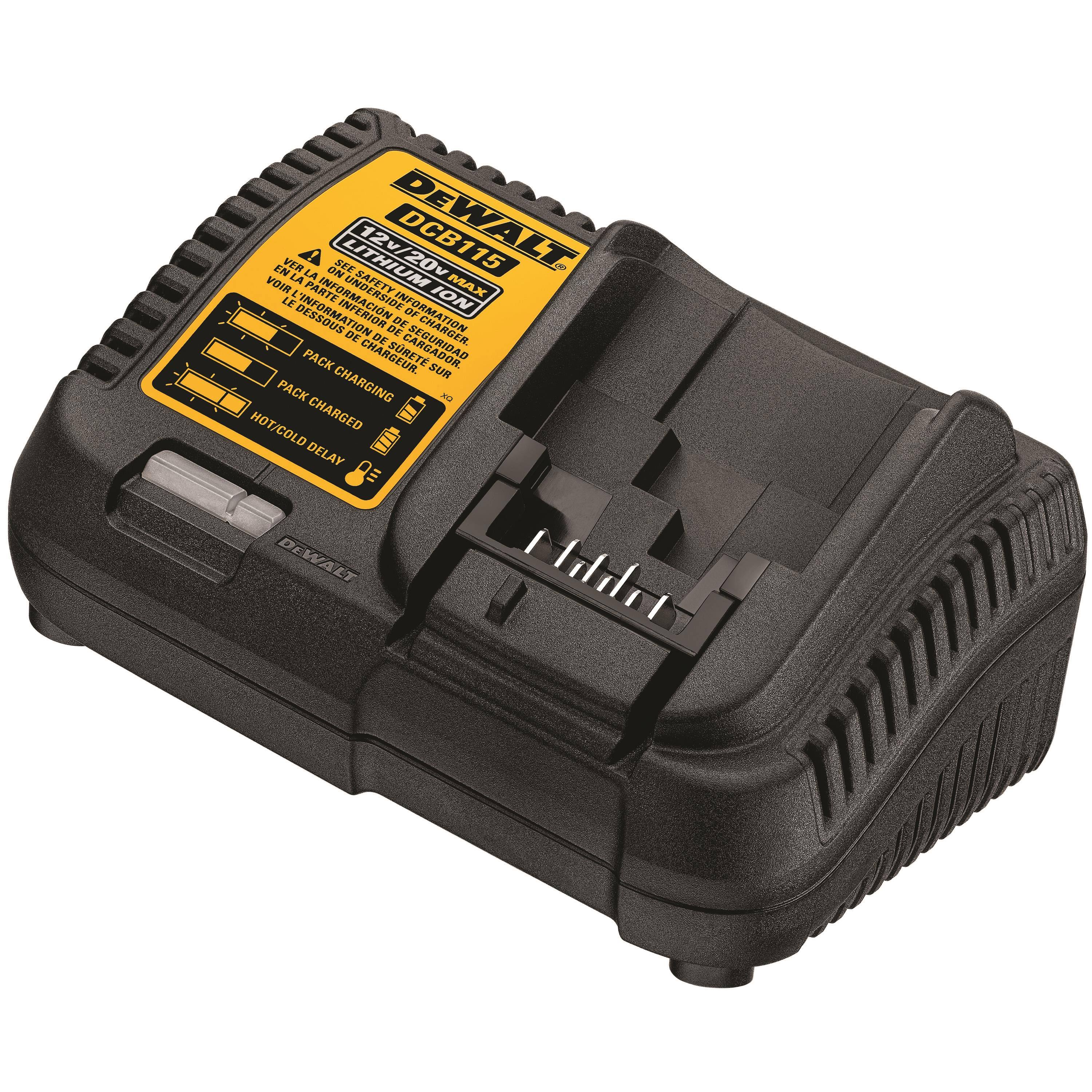 Dewalt Max Power Tool Battery Charger - 20V, Lithium Ion