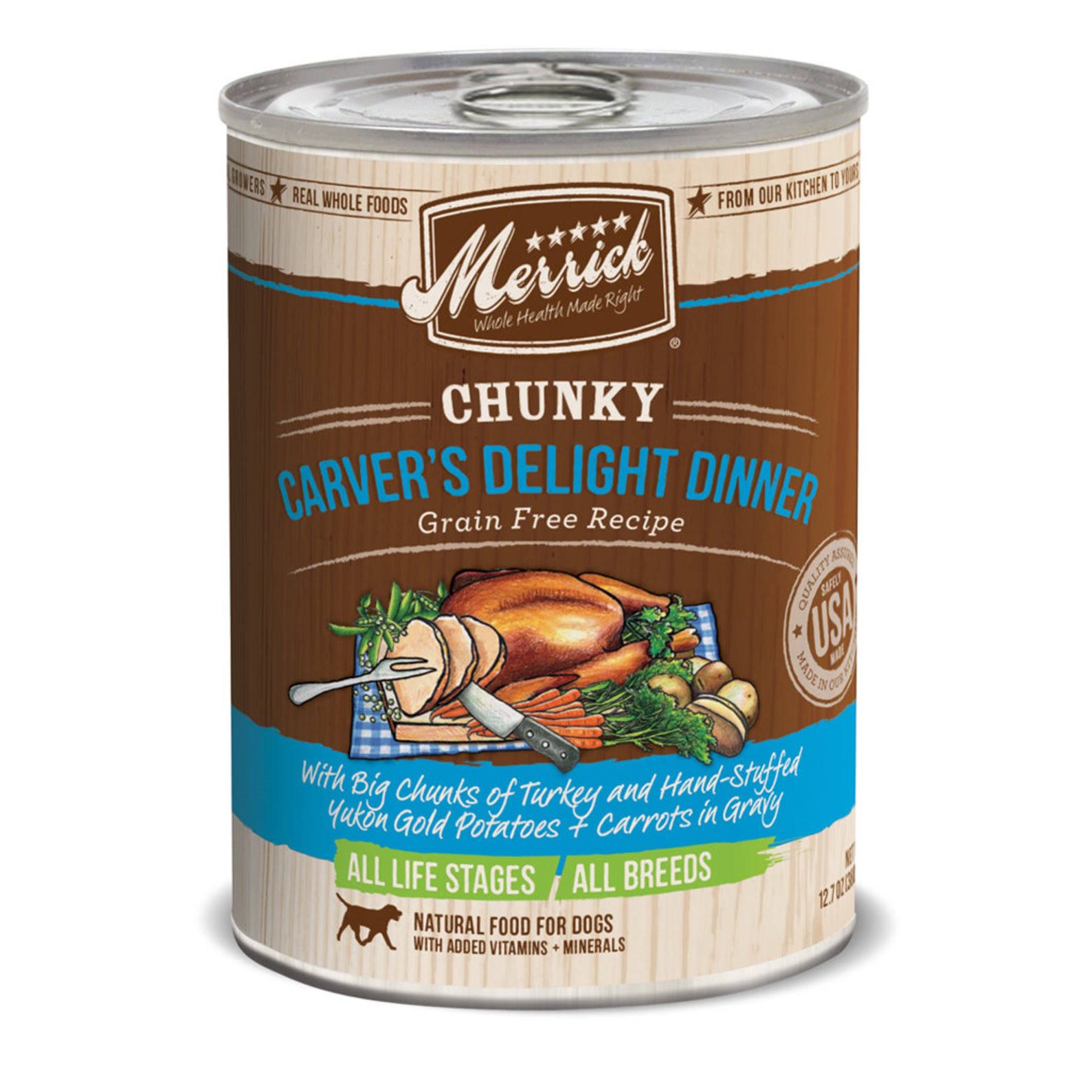 Merrick Chunky Grain-Free Carver's Delight Dinner Canned Dog Food