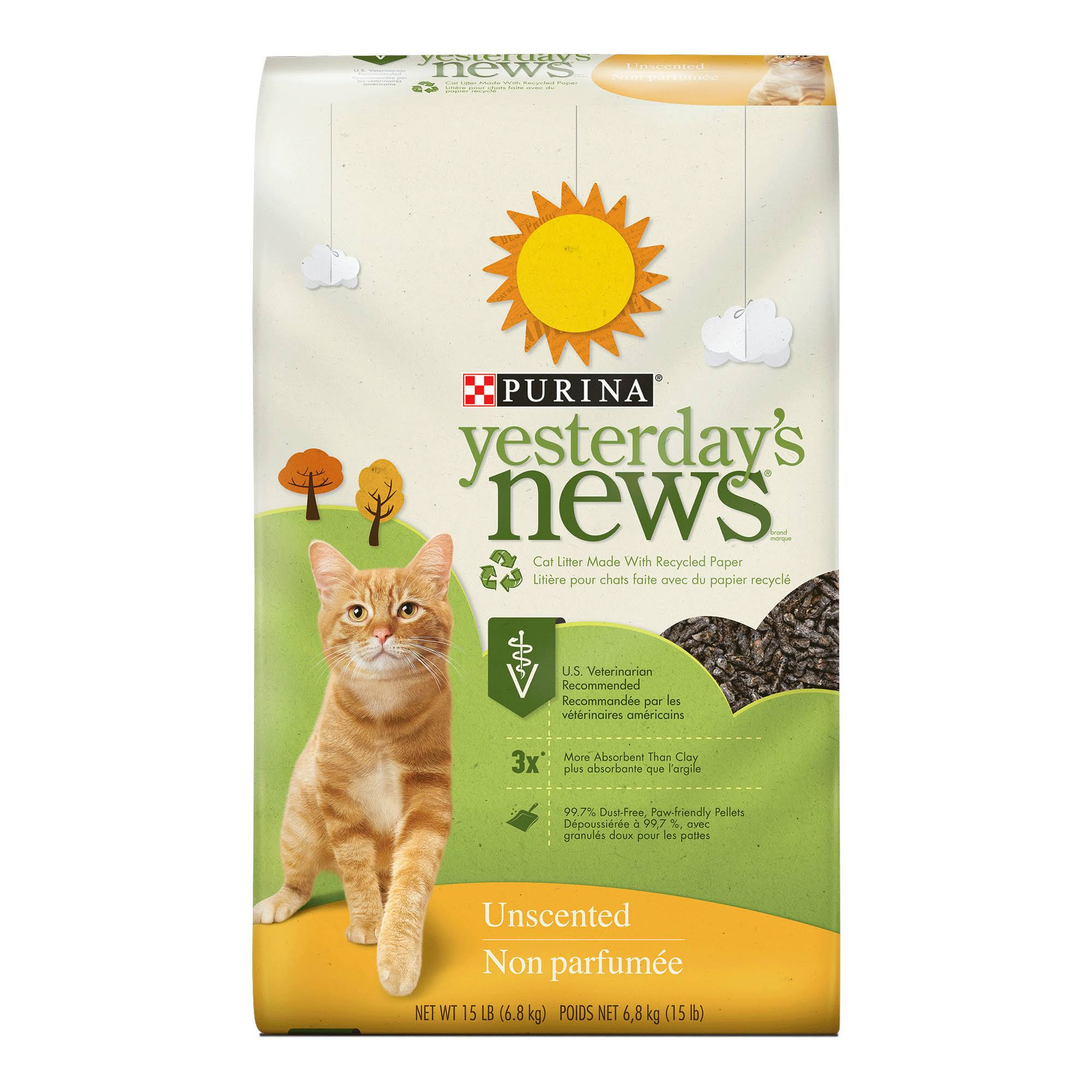 Purina Yesterday's News Cat Litter - Unscented, 15lbs