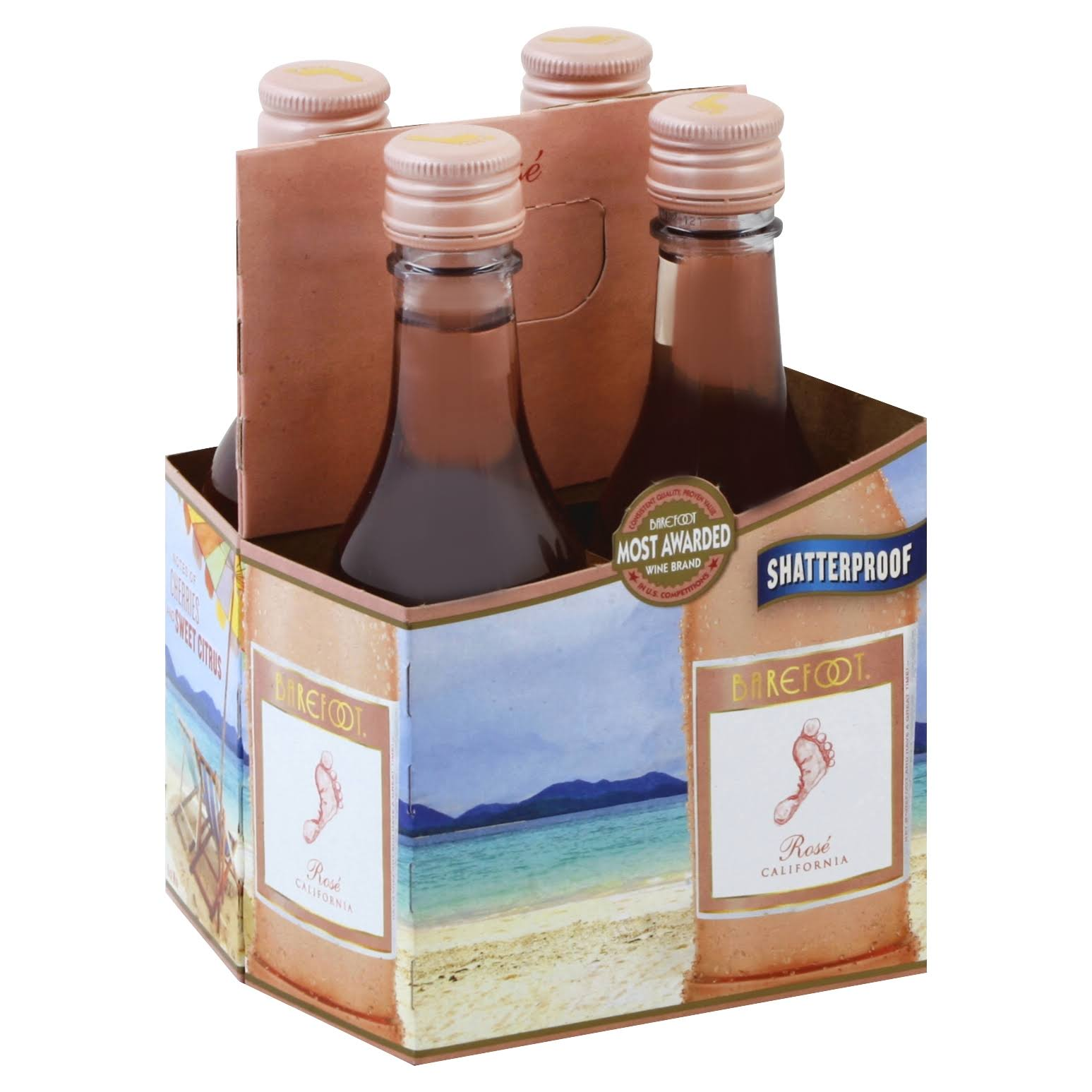 Barefoot Rose, California - 4 pack, 187 ml bottles