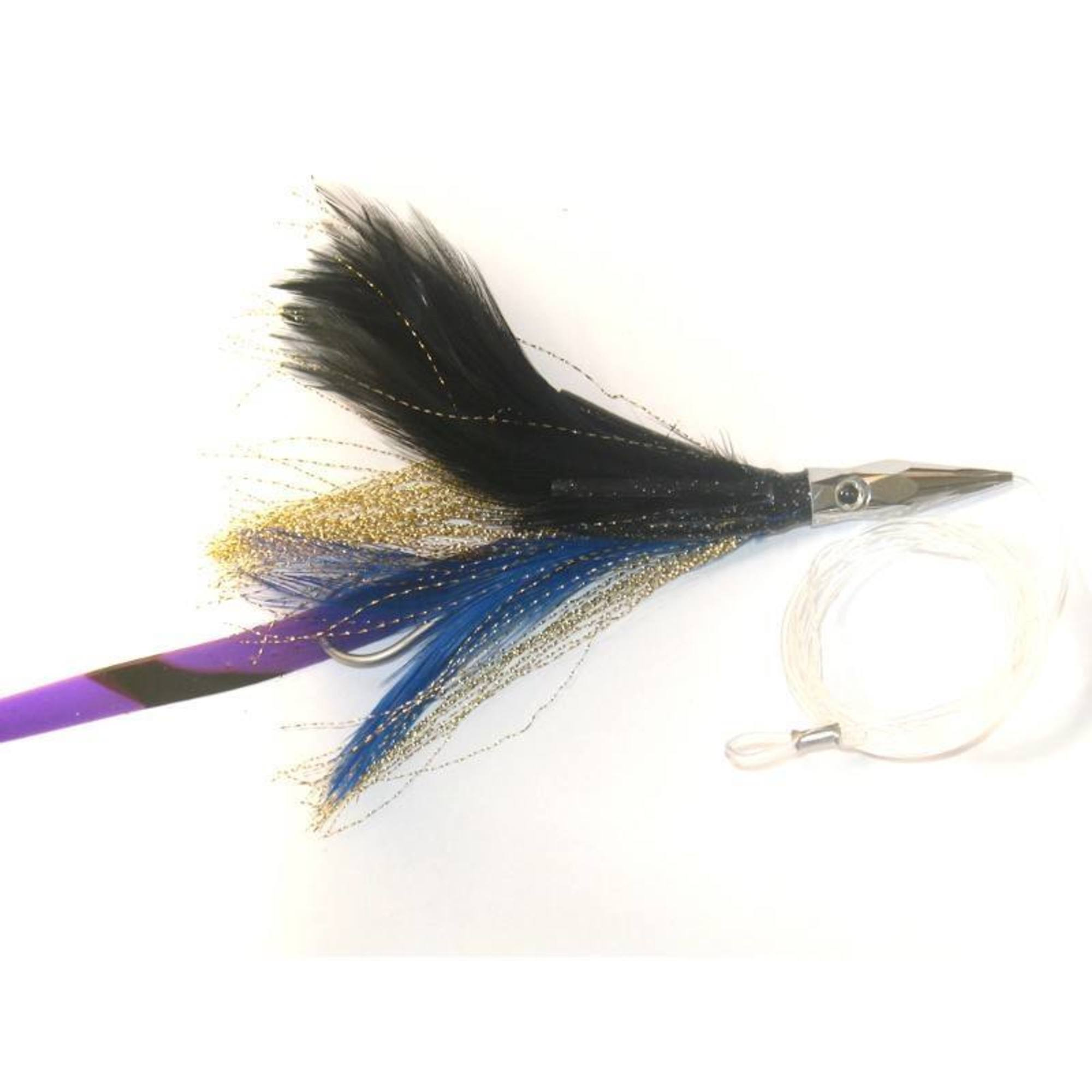 Williamson Rigged Flash Feather Blue/White / 4 inch