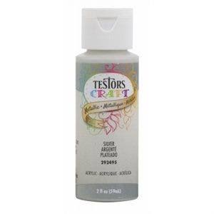 Testors Craft Acrylic Paint - Silver, 2 oz