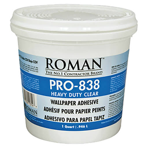 Roman Decorating Products PRO-838 1 qt. Clear Heavy Duty Adhesive
