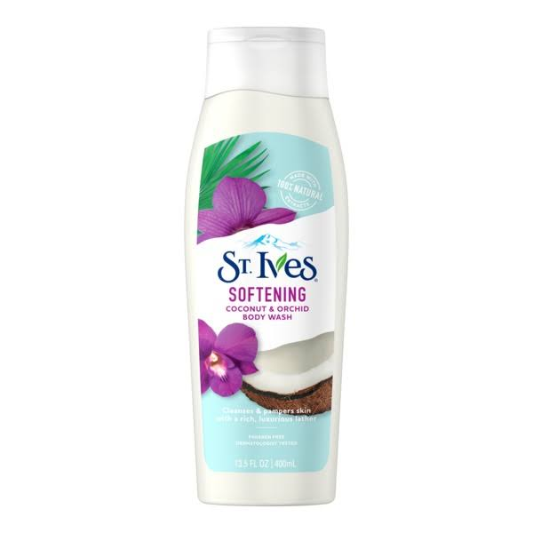 St. Ives Soft and Silky Body Wash - Coconut and Orchid, 13.5oz
