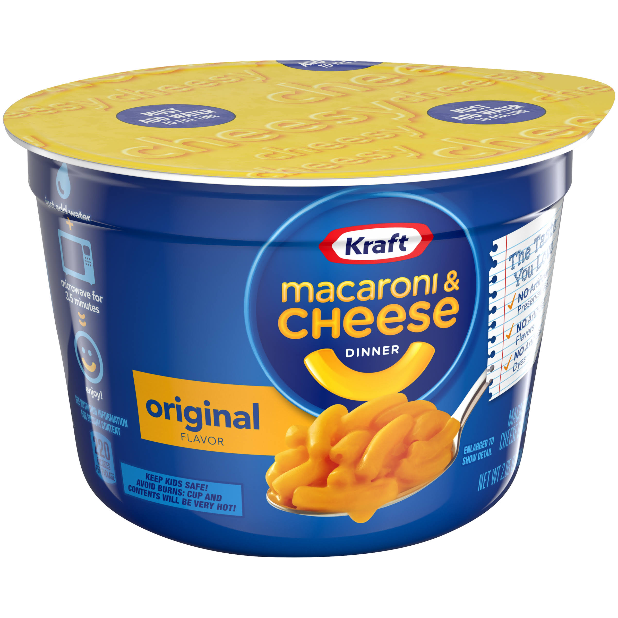 Kraft Macaroni & Cheese Dinner - Original Flavor, 58g