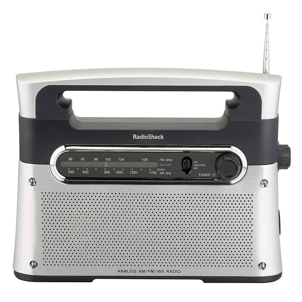 Radioshack Am FM Weather Tabletop Radio