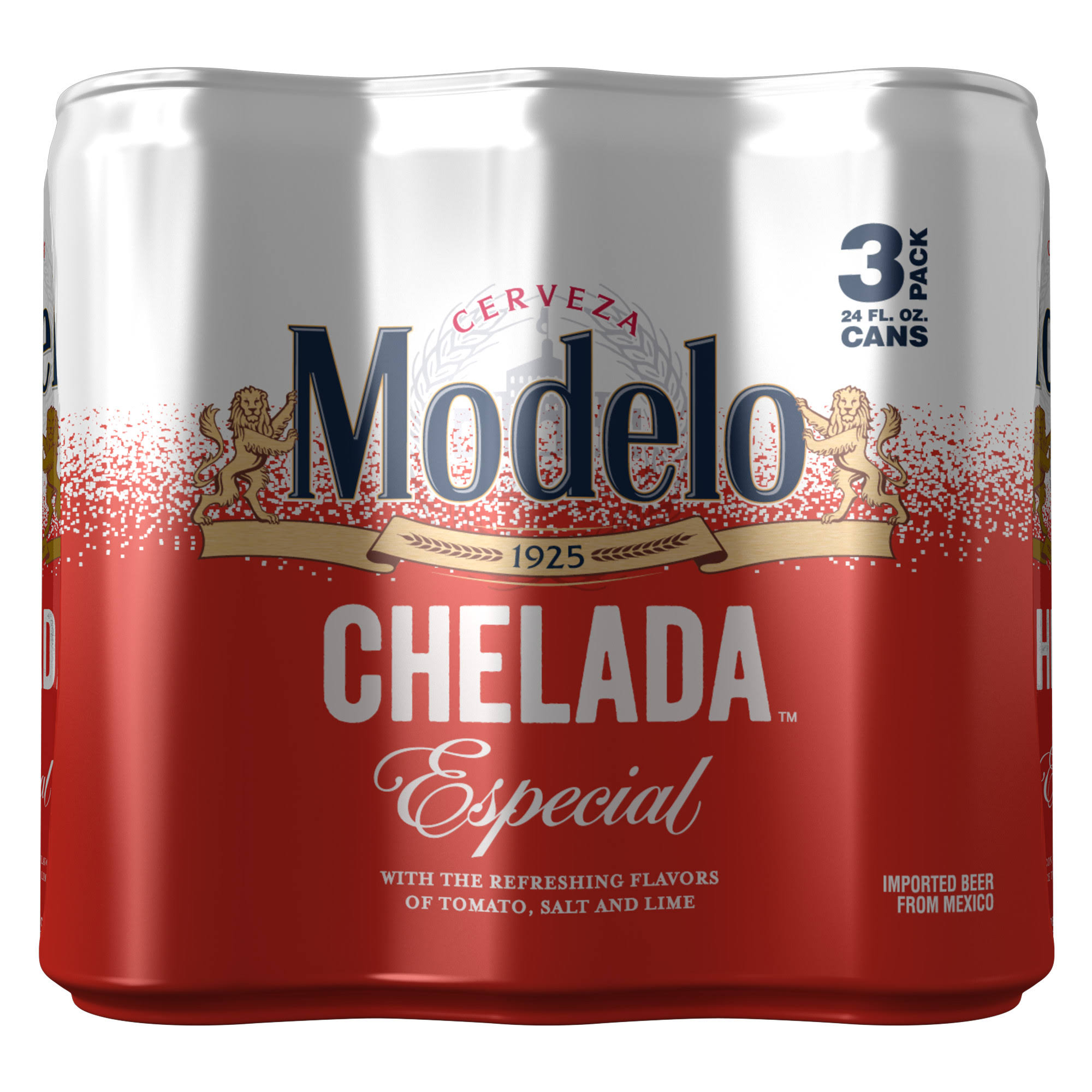 Modelo Chelada Especial Mexican Flavored Import Beer Cans - 24 fl oz