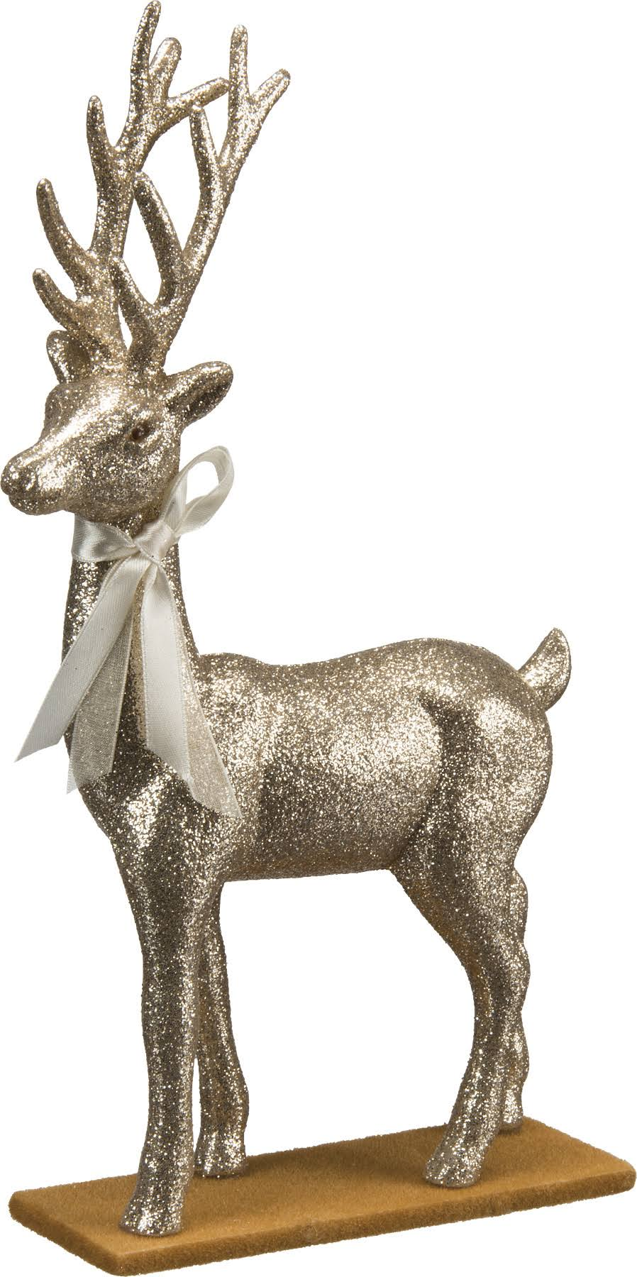 Primitives By Kathy Standing Deer Figure - Champagne Glitter