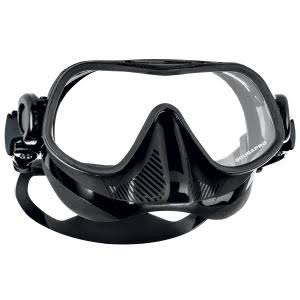 Scubapro Steel Pro Dive Mask - Black, Single Lens, Frameless