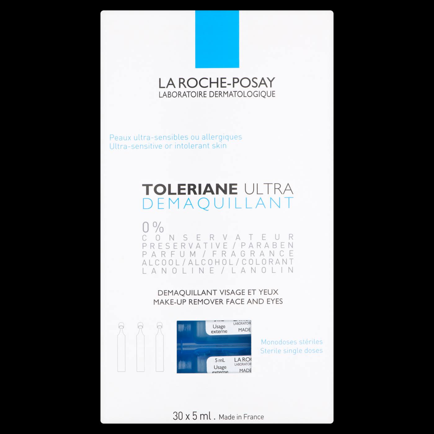 La Roche-Posay Toleriane Monodose Eye Make-Up Remover - 30 x 5ml