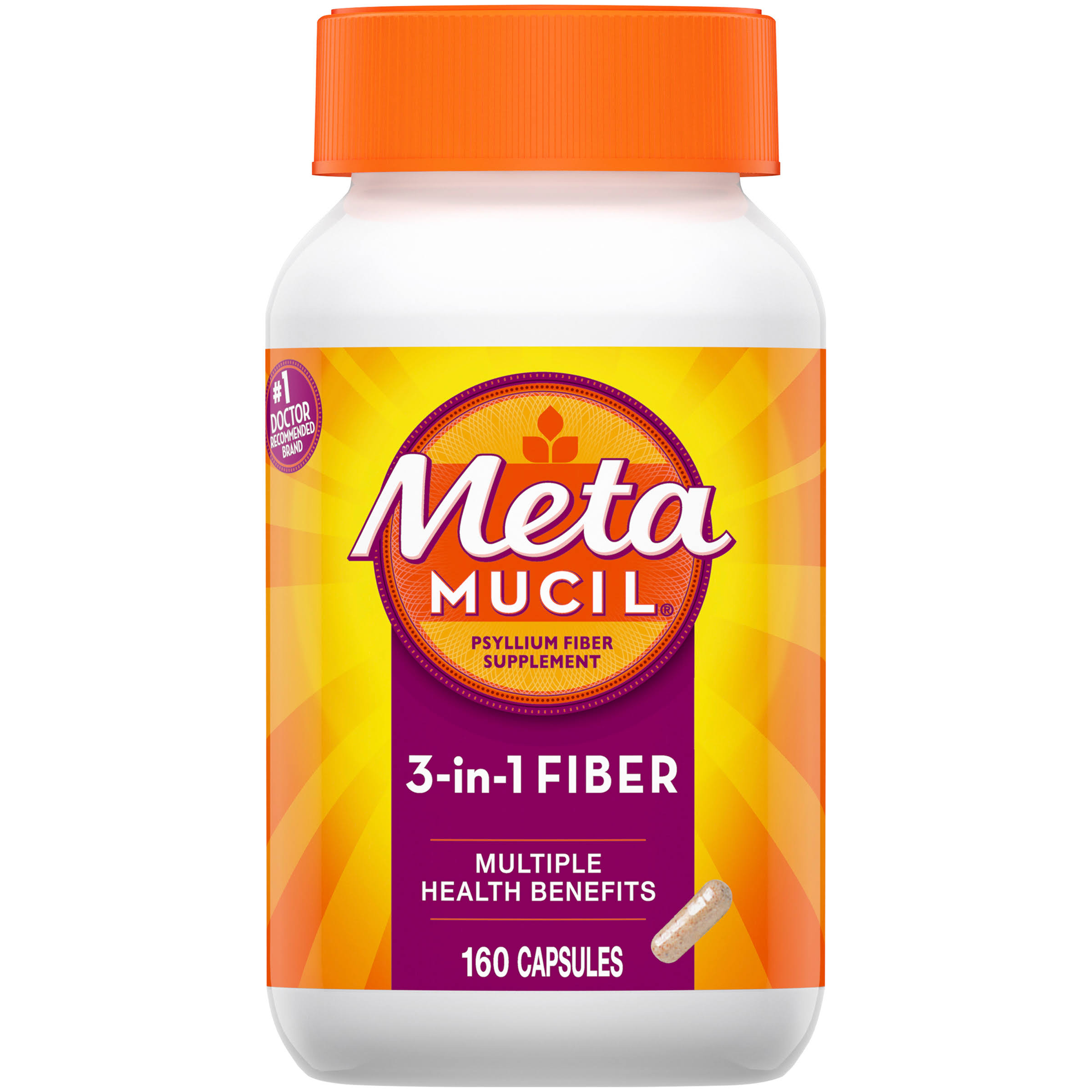 Metamucil Multi-health Psyllium Fiber Supplement - 160 Capsules