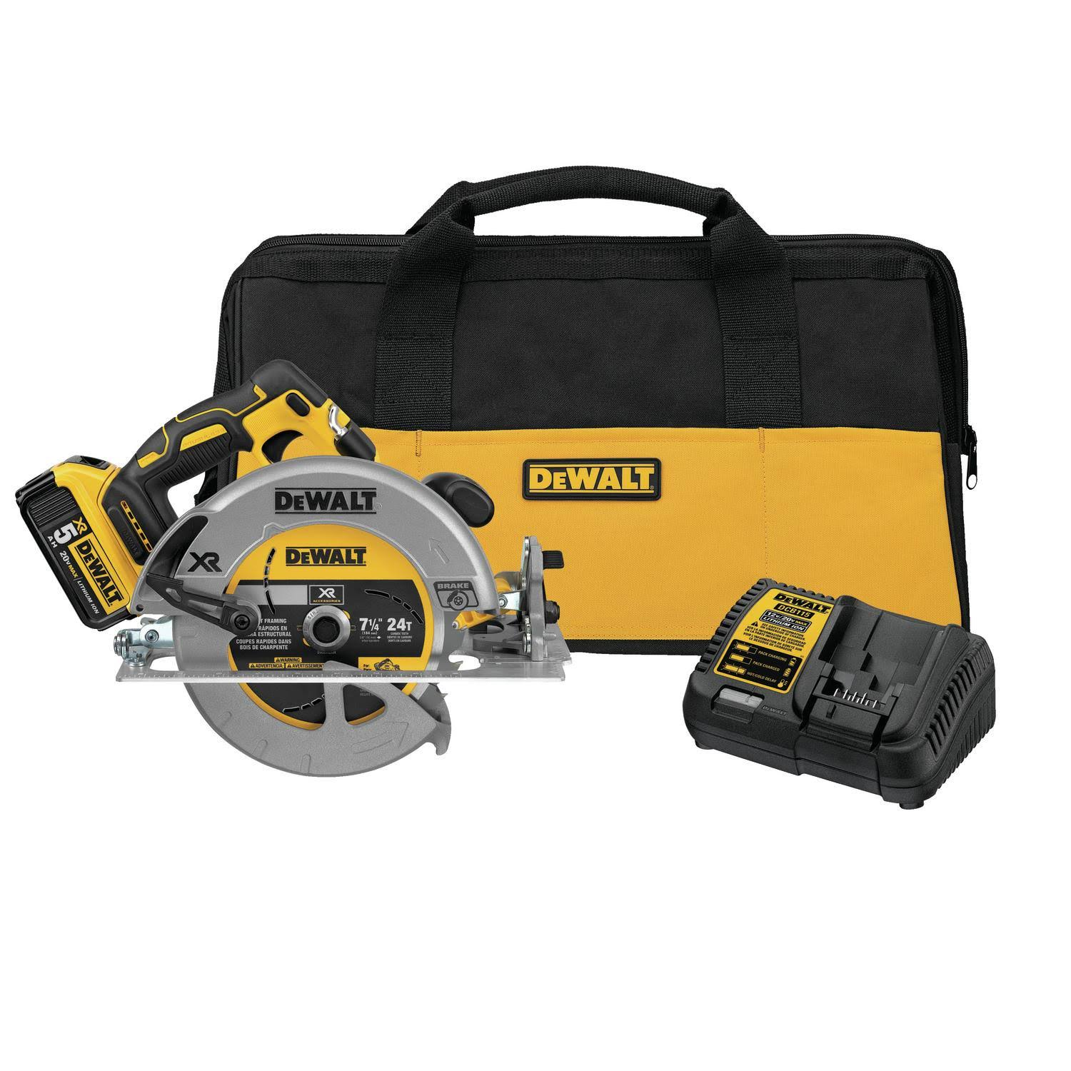 "Dewalt DCS570P1 Max Li-ion Brushless Circular Saw Kit - 7-1/4"", 20V"