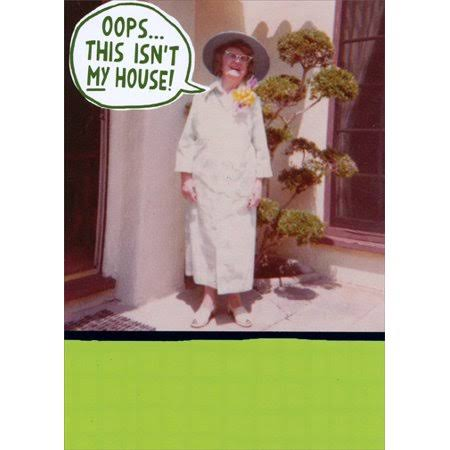 Recycled Paper Greetings Not My House Funny Birthday Card for Her