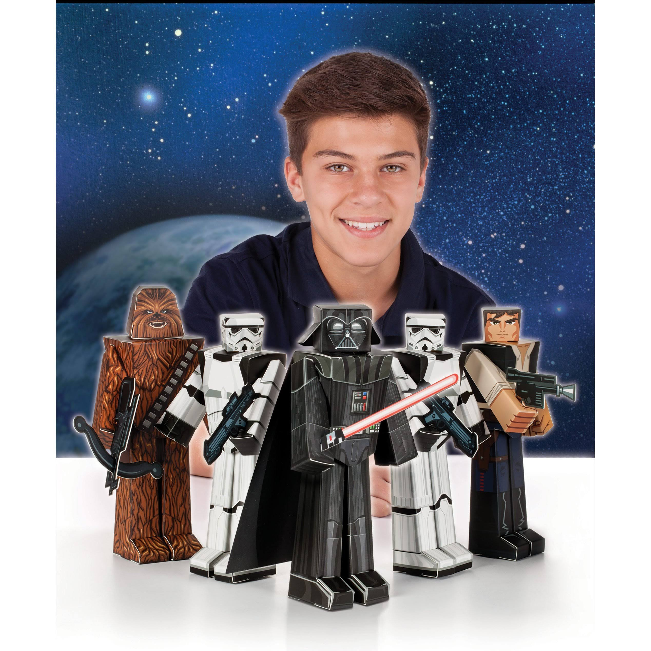 Star Wars Heroes and Villains Blueprints Paper Craft (5 Count)