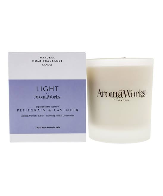 AromaWorks Light Range Candle - Petitgrain and Lavender 30cl