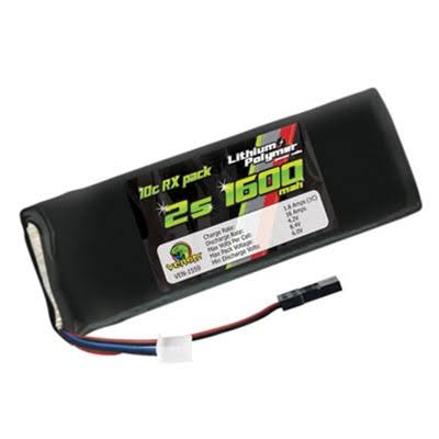 Venom 10C 2S 1600mAh 7.4V Flat Receiver Pack Lipo Battery 1559