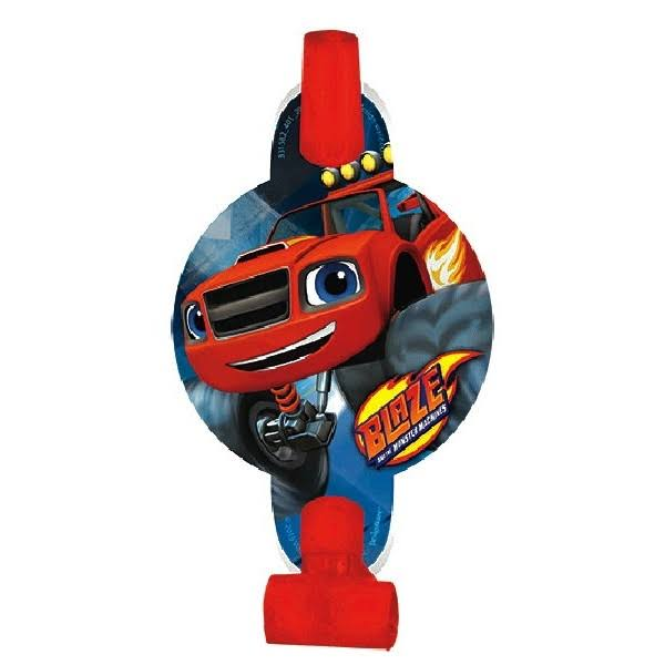 Amscan Blaze and the Monster Machines Blowouts Party Favors - 8pk