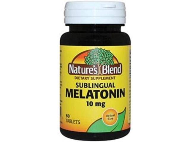 Natures' Blend Sublingual 10mg Melatonin Tablets, 60ct 079854092912S758
