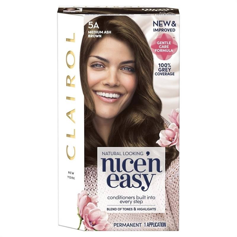 Clairol Nice'n Easy Permanent Hair Dye - 5A Medium Ash Brown