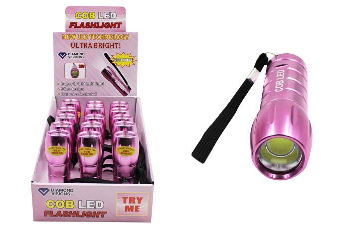 Ddi Cob Led Flashlight - Pink