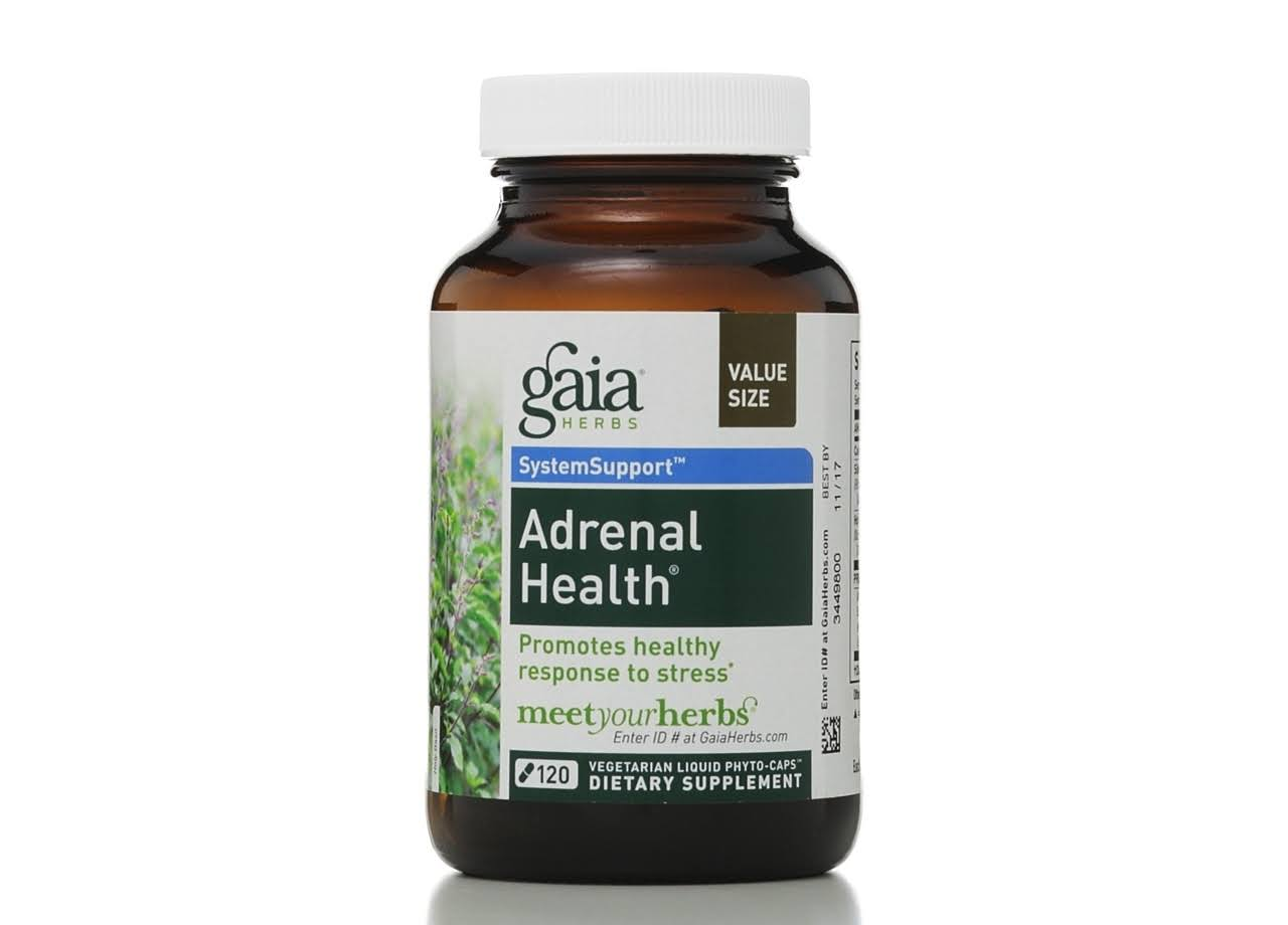 Gaia Herbs Adrenal Health Dietary Supplement - 120 Capsules